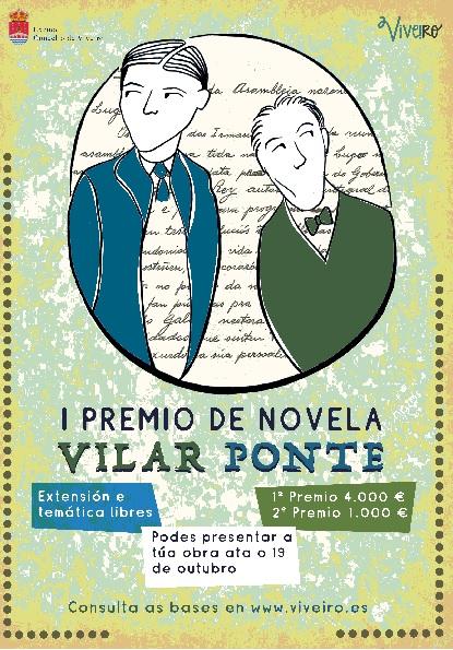 Presentado o cartel do Iº Premio de Novela Vilar Ponte