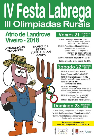 Presentación cartel IV Festa labrega 2018