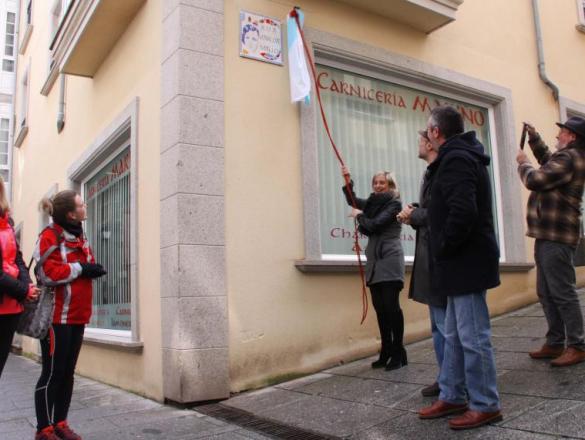 Inauguración da rúa Maruja Mallo